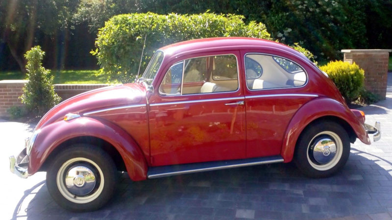 Volkswagen Beetle wedding car for hire in Newton Abbott, Devon