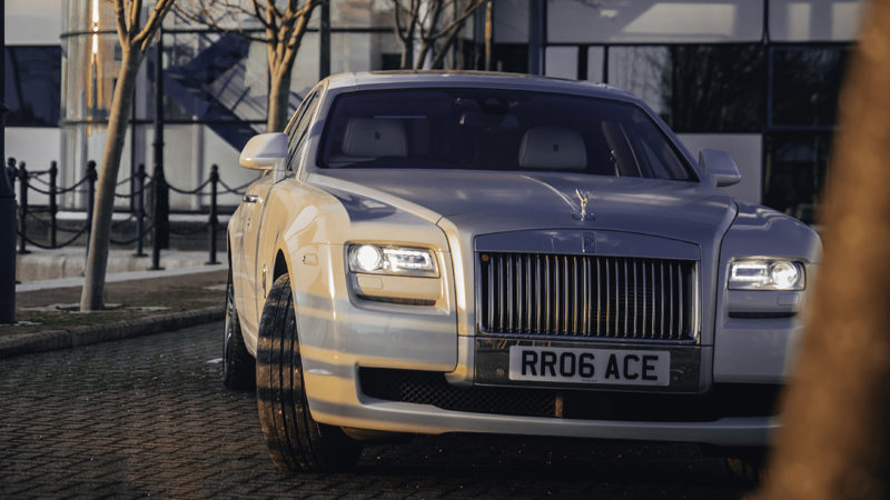 Rolls-Royce Ghost Series II wedding car for hire in Manchester