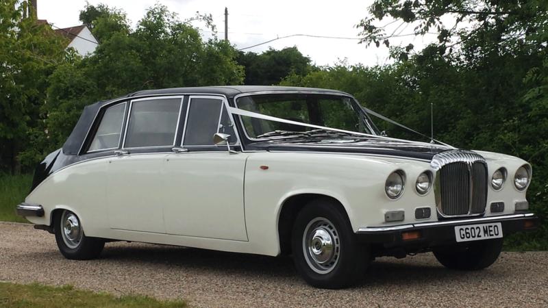 Daimler DS420 Laundaulette wedding car for hire in East London