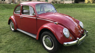 Volkswagen Beetle wedding car for hire in Newton Abbott, Devon