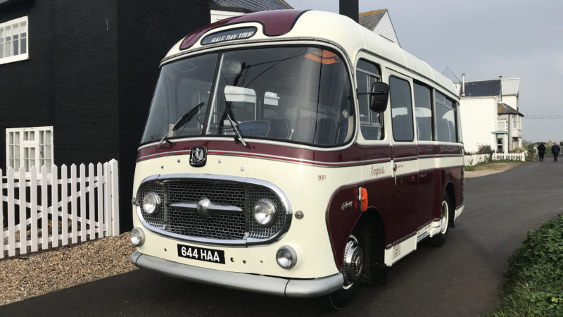 Bedford J2 Plaxton Embassy wedding car for hire in Hastings, East Sussex