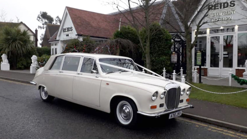 Daimler DS420 Laundaulette wedding car for hire in East London