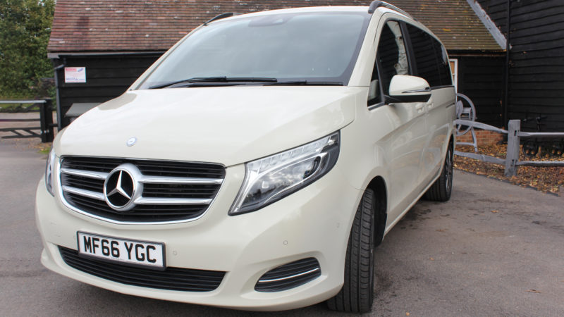 Mercedes V-Class Sport wedding car for hire in Faversham, Kent