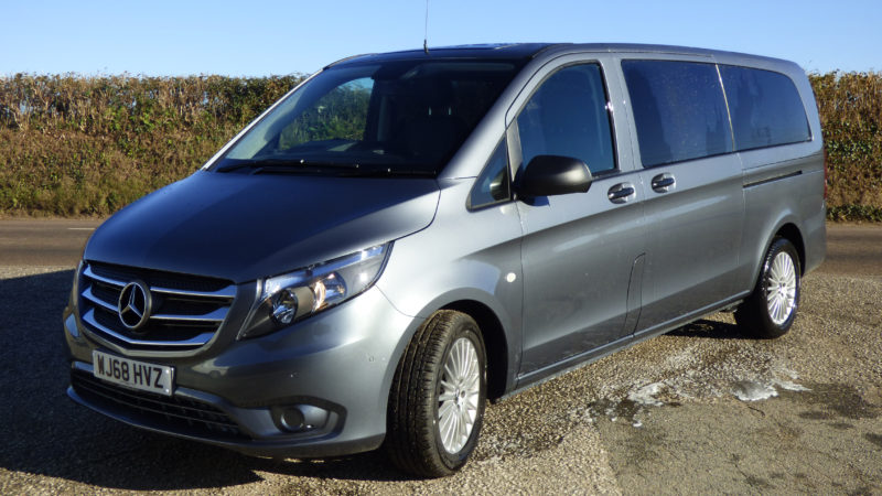 Mercedes Vito wedding car for hire in Newquay, Cornwall
