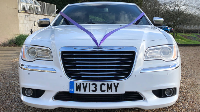 Chrysler 300c Saloon wedding car for hire in Newport, South Wales
