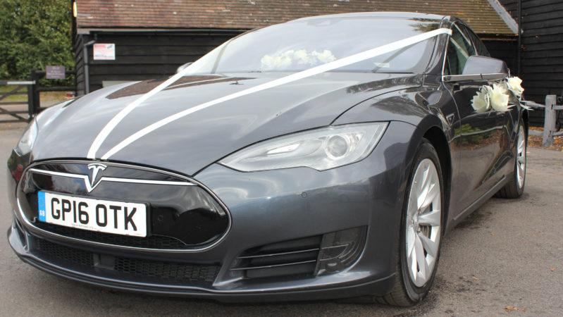 Tesla 'S' 85D wedding car for hire in Faversham, Kent