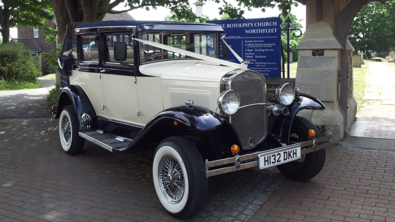 Badsworth Landaulette wedding car for hire in East London