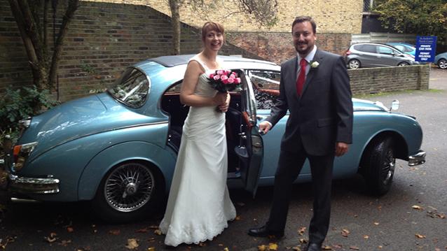 Daimler 250 V8 wedding car for hire in Croydon, Surrey
