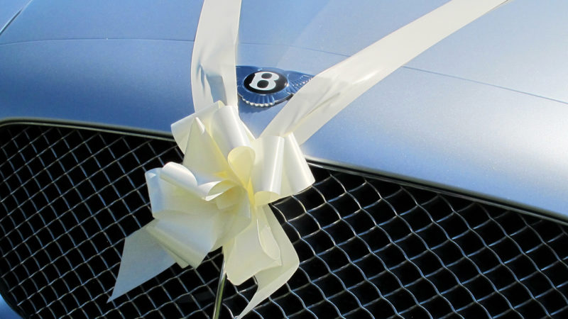 Bentley Continental Flying Spur LWB wedding car for hire in Bideford, Devon