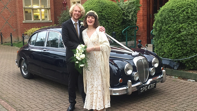 Daimler 250 V8 wedding car for hire in Croydon, Surrey