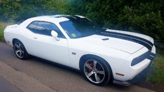 Dodge Challenger 6.4L SRT wedding car for hire in Margate, Kent
