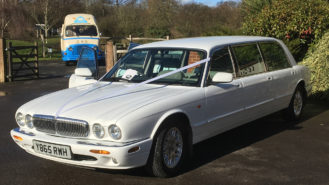 Daimler Stretched Limousine wedding car for hire in Horsham, Surrey