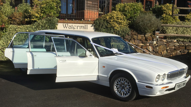 Daimler Stretched Limousine wedding car for hire in Horley, Surrey