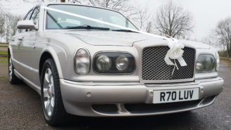 Bentley Arnage wedding car for hire in Worcester, Worcestershire