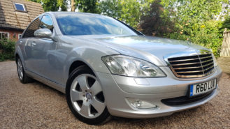 Mercedes 'S' Class wedding car for hire in Worcester, Worcestershire