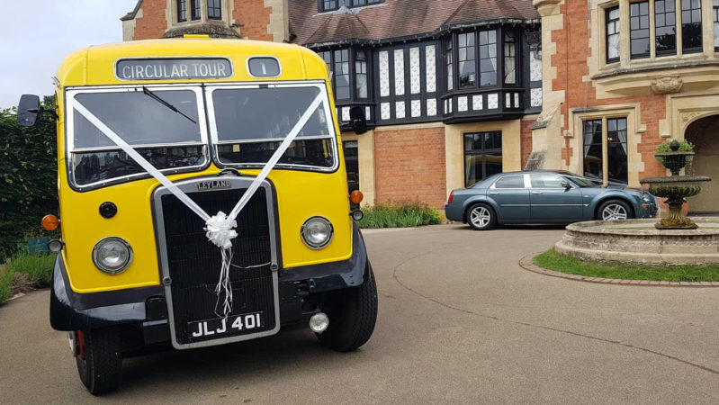 Leyland Tiger Lily wedding car for hire in Worcerster, Worcestershire