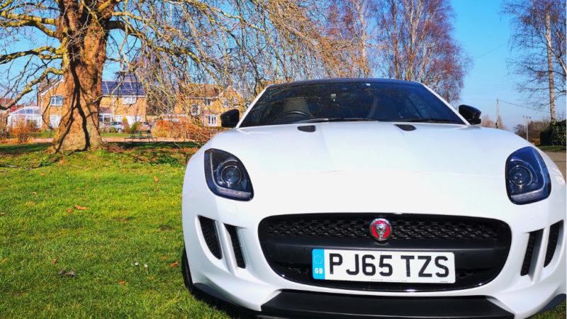 Jaguar F-Type wedding car for hire in Tewkesbury, Gloucestershire