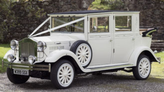 Imperial Viscount Landaulette wedding car for hire in Ayr, Ayrshire