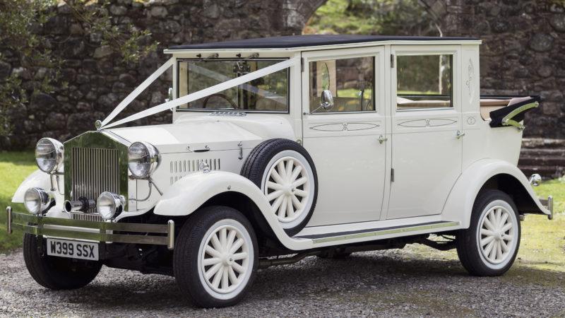 Imperial Viscount Landaulette wedding car for hire in Ayr, Ayrshire