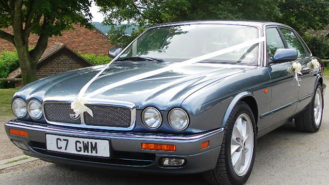 Jaguar XJ6 wedding car for hire in Maidstone, Kent