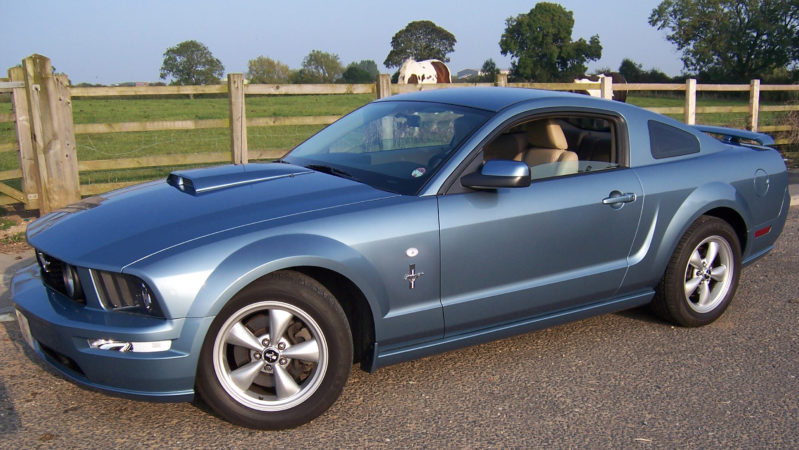 Ford Mustang GT V8 wedding car for hire in Darlington, Durham