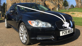 Jaguar XF wedding car for hire in Leeds, West Yorkshire