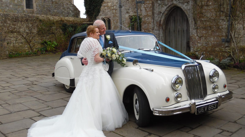 Armstrong-Siddeley Sapphire wedding car for hire in Maidstone, Kent