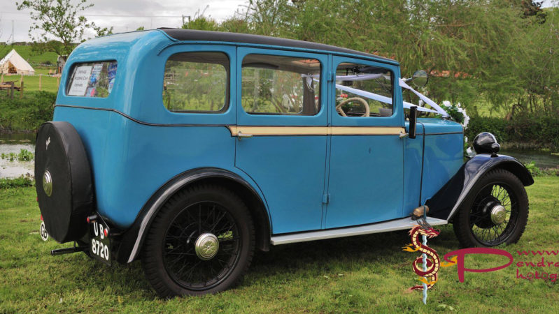 Jowett Kingfisher wedding car for hire in Eastleigh, Hampshire