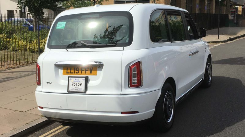 Taxi Cab – 100% Electric wedding car for hire in London