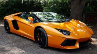 Lamborghini Aventador V12 wedding car for hire in North London