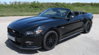 Ford Mustang 5.0L V8 GT Convertible wedding car for hire in Newquay, Cornwall
