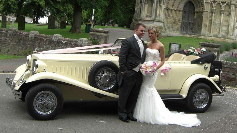 Beauford Convertible wedding car for hire in Birmingham, Midlands