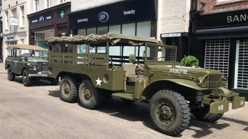 Dodge WC63 Army Truck wedding car for hire in Winchester, Hampshire