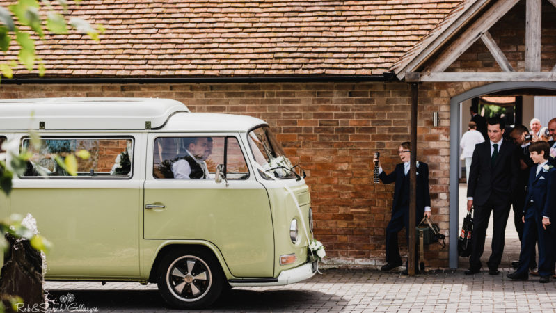 Volkswagen Bay Window Camper Van wedding car for hire in Birmingham, West Midlands
