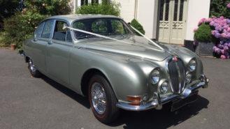 Jaguar MKII 'S' Type wedding car for hire in Barnstaple, Devon