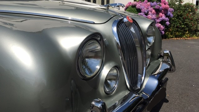 Jaguar MKII 'S' Type wedding car for hire in Barnstaple, Devon