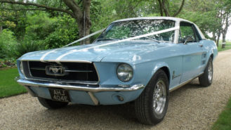 Ford Mustang High Country Coupe wedding car for hire in Royston, Hertfordshire