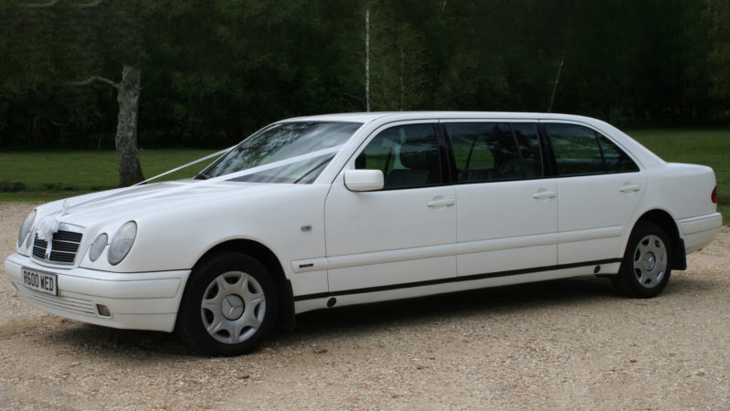 Mercedes 'S' Class Limousine wedding car for hire in Cadnam, Hampshire