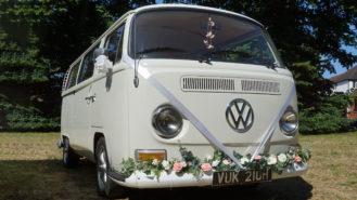 Volkswagen Bay Window Camper Van wedding car for hire in Welling, Kent