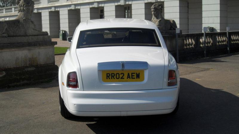 Rolls-Royce Phantom wedding car for hire in Paignton, Devon