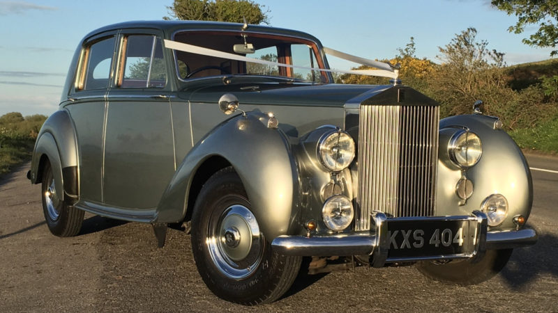 Rolls-Royce Silver Dawn wedding car for hire in Bournemouth, Dorset