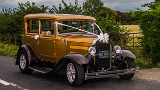 Ford Model 'A' Tudor Sedan Hot Rod wedding car for hire in Thornbury, Gloucestershire