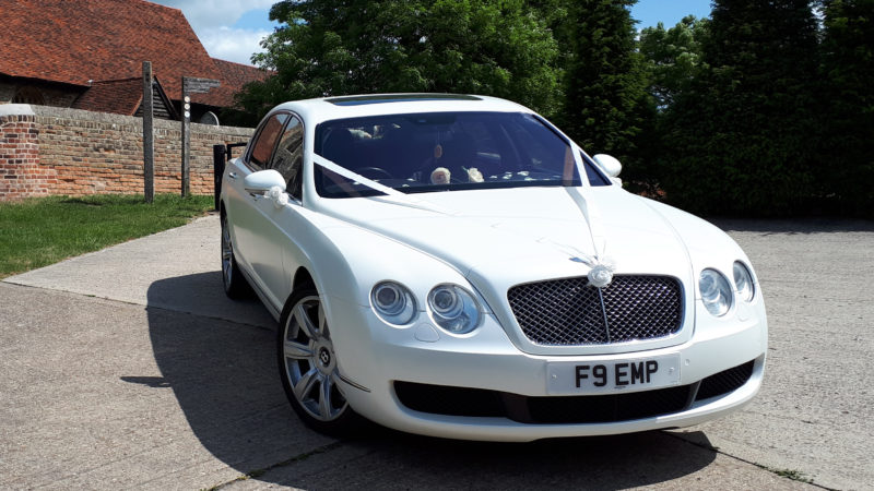 Bentley Continental Flying Spur wedding car for hire in Southend-On-Sea, Essex