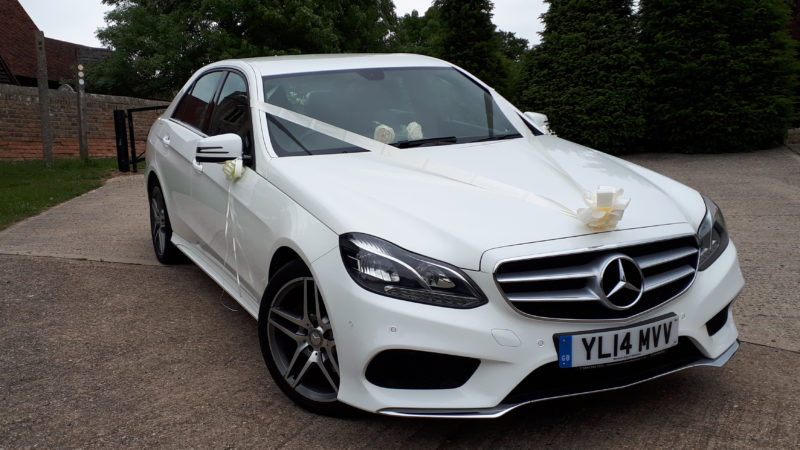 Mercedes 'E' Class wedding car for hire in Southend-On-Sea, Essex
