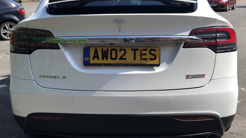 Tesla 'X' P100D wedding car for hire in Paignton, Devon