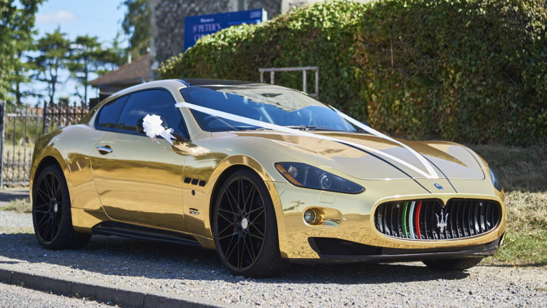 Maserati GranTurismo 'S' wedding car for hire in Lowestoft, Norfolk