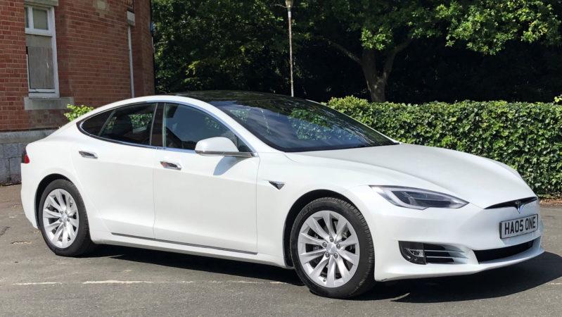 Tesla 'S' wedding car for hire in Paignton, Devon