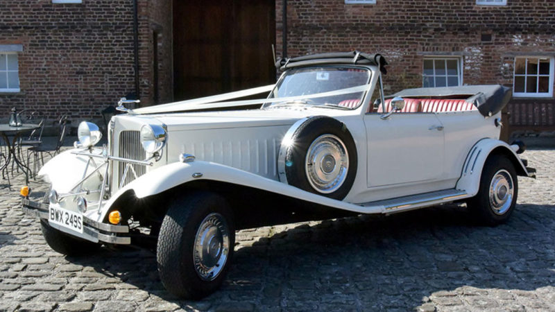 Beauford Convertible wedding car for hire in Whitstable, Kent
