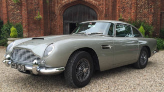 Aston Martin DB5 wedding car for hire in Loughton, Essex
