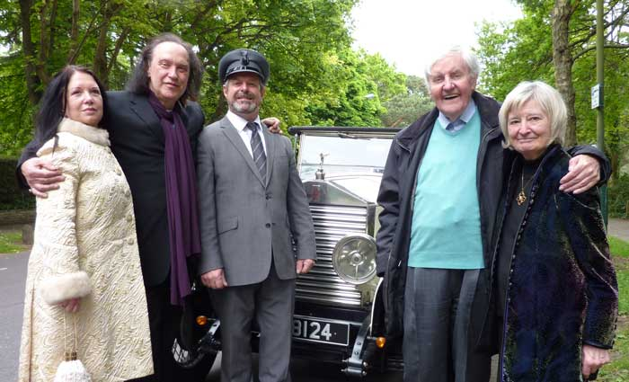 Vintage Rolls Royce with British Actor Richard Briers and Musician Dave Davies